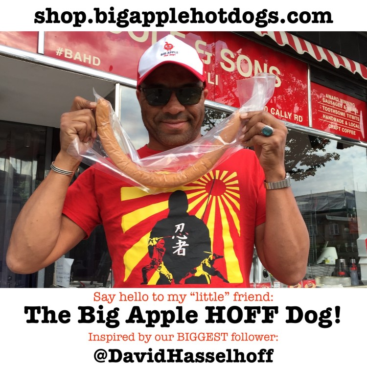 The Big Apple HOFF Dog! A 24-inch Wiener in Extra Large Buns. The perfect Home KIT. Enough to feed the needy <br /><span class='product-bracket'>(2-4 ) PRE-ORDER NOW!</span>