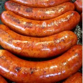 THE BIG DOG ROYALE DE LUXE:  Extra Large, All-natural, Wood-Smoked, Marjoram-flecked, Coarsely Ground Pork Sausages <br /><span class='product-bracket'>(10 x 160g avg.)</span>